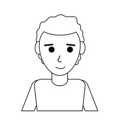 Young happy man in casual outfit icon image vector