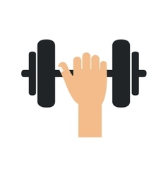 Weight metal hadn bodybuilding icon vector
