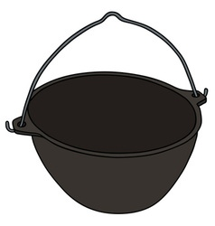 Classic black kettle vector
