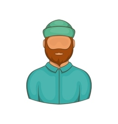 Lumberjack icon cartoon style vector