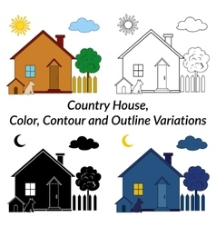 Set of country houses vector