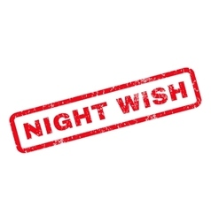 Night wish rubber stamp vector