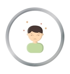 Dizziness icon cartoon single sick icon from the vector