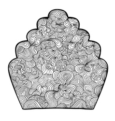 Elegant shell drawing vector