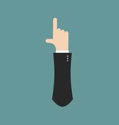 I letter businessman hand font it shows finger vector