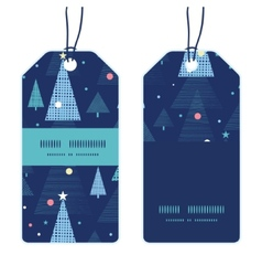 Abstract holiday christmas trees vertical stripe vector