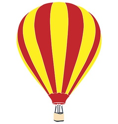 Red and yellow air balloon vector
