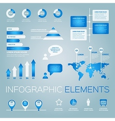 Collection of infographic elements vector