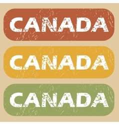 Vintage canada stamp set vector