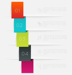 Colorful text box trendy colors vector
