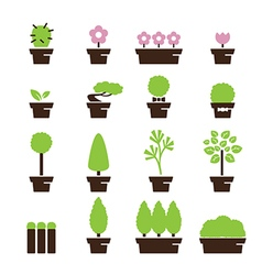 Tree pot icon vector