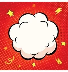 Comic Speech Bubble Cartoon explosion on red vector image