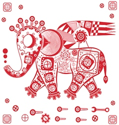 Mechanical elephant vector
