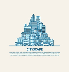 City scape thin flat eps 10 vector