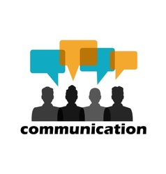 Communication between people vector