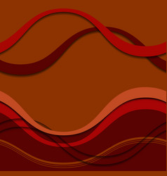 abstract autumn with colored waves vector image vector image