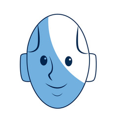 android head smiling technology smart vector image
