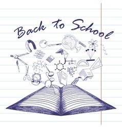 Back school vector image vector image