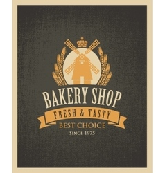 Bakery shop with a mill vector