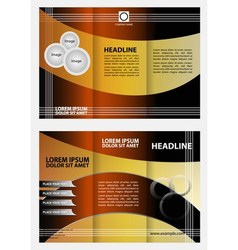 Brochure design template folder leaflet vector