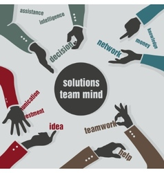 concept solutions team mind vector image