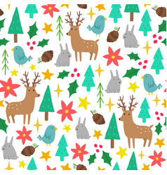 Cute cartoon christmas background vector