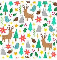 cute cartoon christmas background vector image vector image