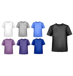 design shirt set vector image vector image
