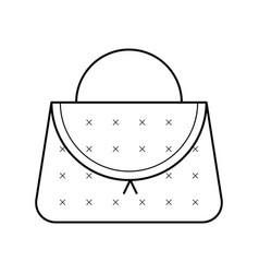 Elegant beautician handbag icon vector