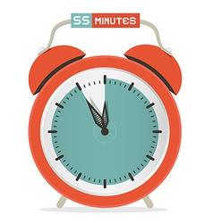 Fifty Five Minutes Stop Watch - Alarm Clock vector image