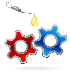 Gear cog oil logo vector