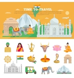 India travel set vector