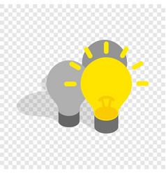 Light stays on isometric icon vector