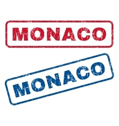 Monaco rubber stamps vector