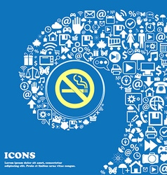 No smoking sign symbol nice set of beautiful icons vector
