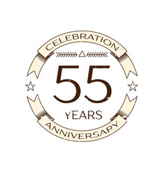 realistic fifty five years anniversary celebration vector image vector image