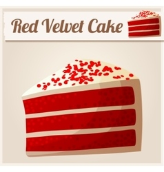 Red Velvet Cake Detailed Icon vector image vector image
