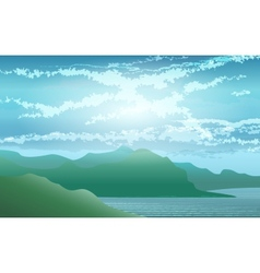 Seashore Landscape vector image