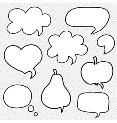 Set of hand drawn speech bubbles vector image vector image