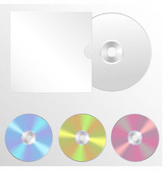 set of isolated blank compact vector image vector image