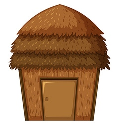 Single hut with roof and door vector image vector image