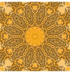 Yoga ornament kaleidoscopic floral mandala vector