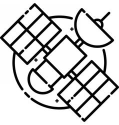 Satellite floating in space vector