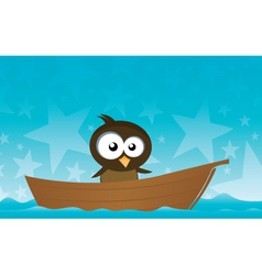 bird on a boat vector image