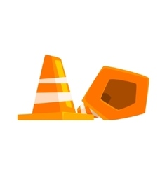 Road cone item cool colorful vector