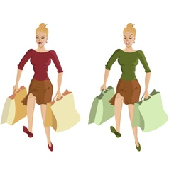 Woman going shopping vector