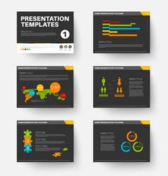 Template for presentation slides 1 vector