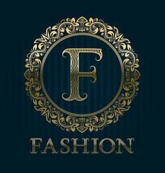 Golden logo template for fashion boutique vector