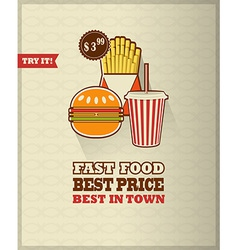 Junk food icon vector