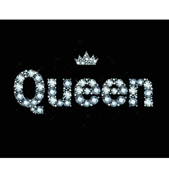 Diamond word queen vector